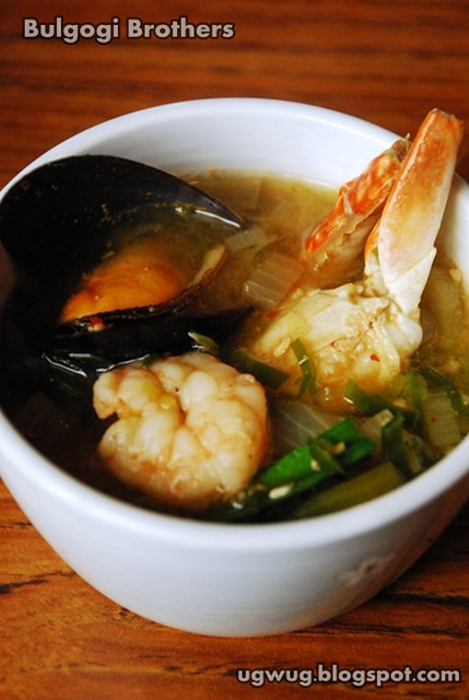 Haemul Doenjang Jjigae - Seafood soybean stew