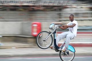 Boris Bike Wheelie!!!