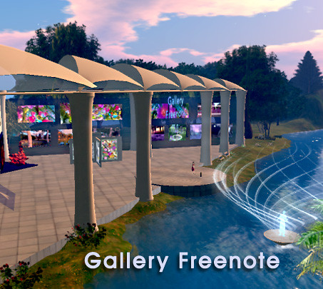 The New Gallery Freenote in InWorldz by Teal Freenote