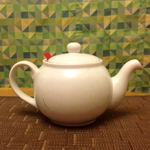 Poor tea pot has fatal cracks  and must retire. So long faithful friend!