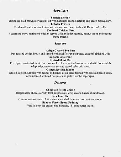 Harbor House Restaurant Week Menu