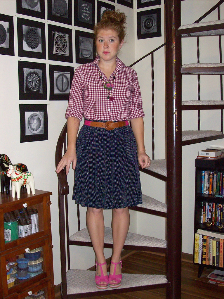 9-12-12 Gingham and polka dots