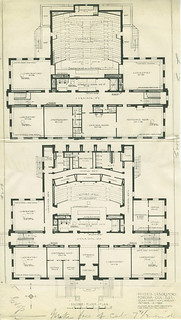 1930 plans for a new physics building which was never built