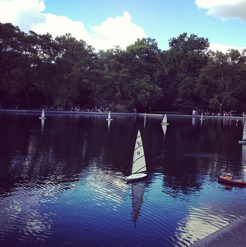 Beautiful Central Park on a sunday