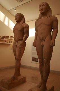 Cleobis y Bitón. Museo de   Delfos