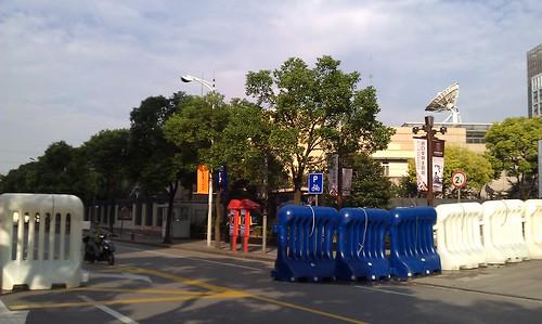 在上海日本領事館の周辺