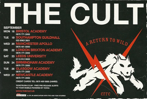 September 2006 The Cult U.K. Tour Ad