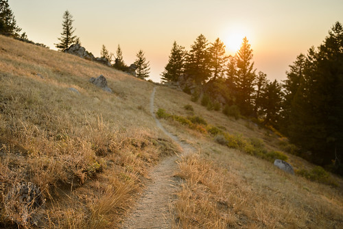 sunset mountain path idaho boise dirtpath moresmountain