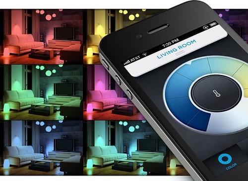 Управлять многоцветной светодиодной лампой LIFX можно со смартфона