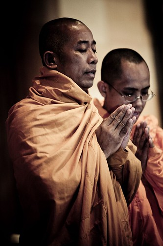 Buddhist Monks Open the Locating the Sacred Festival