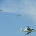 Space Shuttle, 747, F-18s, Bird by redteam