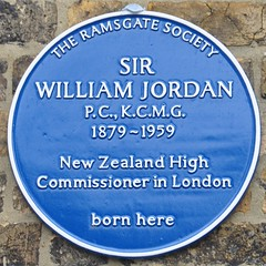 Photo of William Jordan blue plaque