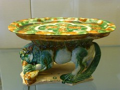 Lion Supporting a Tray