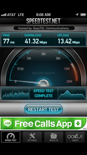 iPhone5 Speedtest
