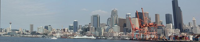 Seattle Skyline by day - viewed from Spirit of Seattle ferry