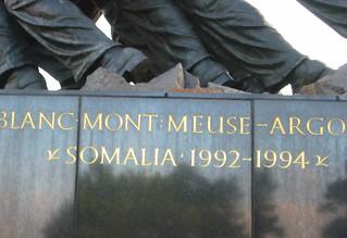 Somalia intervention on Marine Corps Memorial