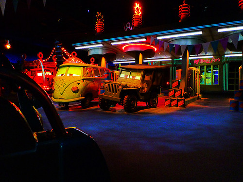 Stuck here on Radiator Springs Racer