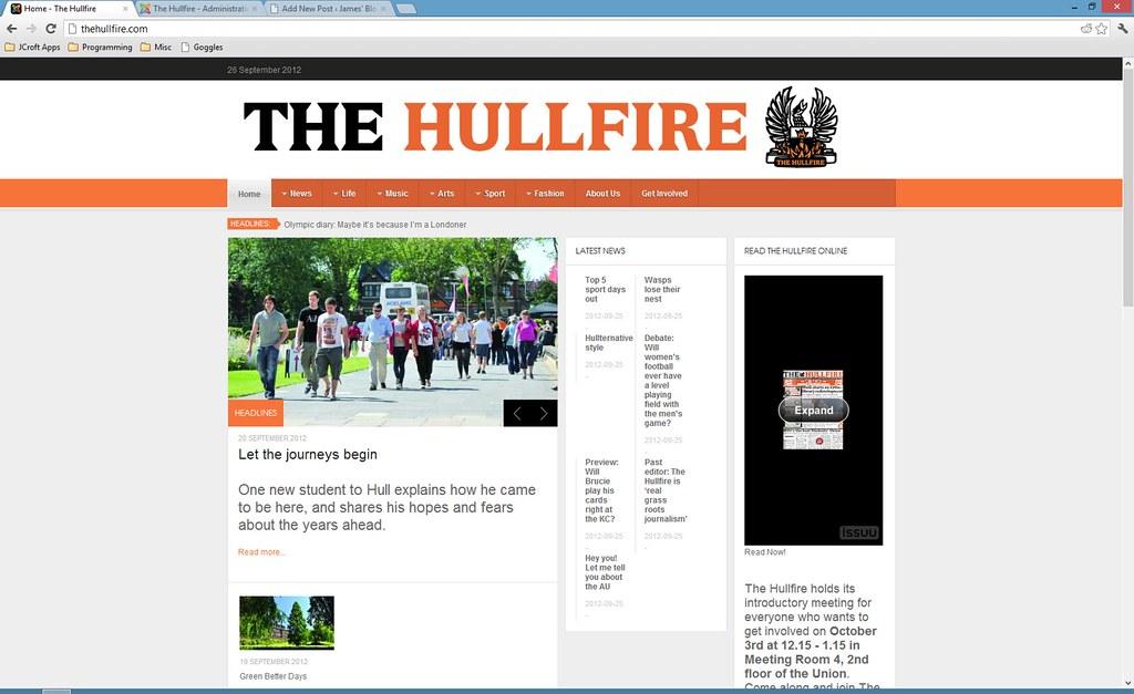 The Hullfire Website