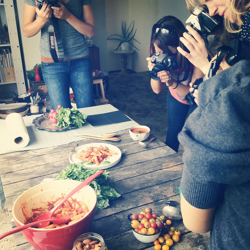 Teaching a food photography class!