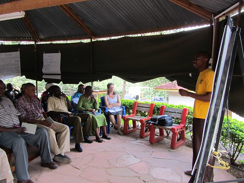 Kivulini ED facilitates part of a training. I pretend to understand what's being said.