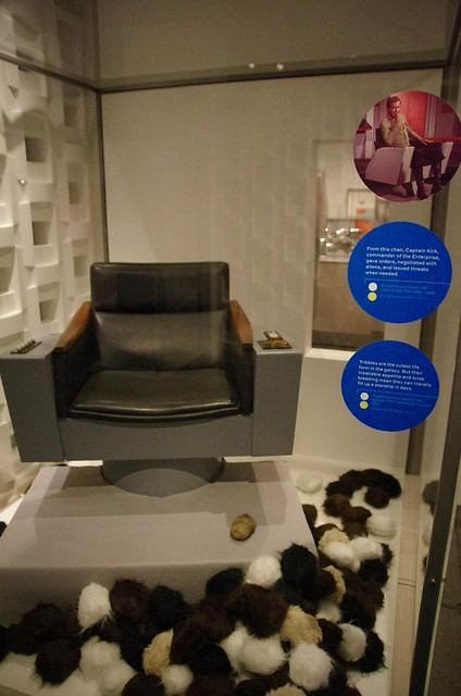 Star Trek TOS Captain Kirks chair and Tribbles - Experience Music Project (EMP) Seattle Museum of Music + Sci-fi + Pop Culture