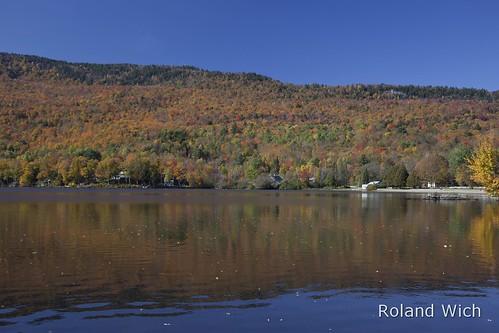autumn trees usa lake color colour fall colors america us vermont colours united herbst foliage states vt elmore