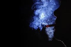 [フリー画像素材] 人物, 男性, シルエット, 煙草・タバコ ID:201210070400