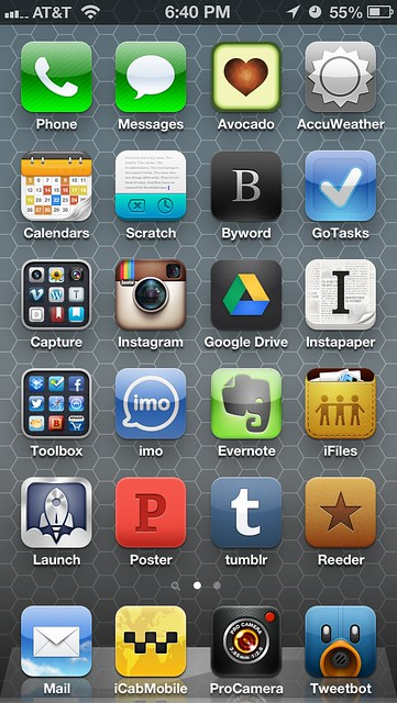 iphone home screen layout iphone 5 home screen layout one week later flickr 6629
