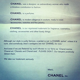 Full page on the back of Women's Wear Daily. I remember a time I would have given my eye teeth for a real Chanel.