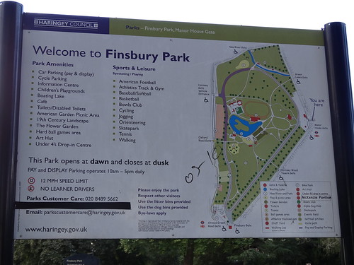 Welcome to Finsbury Park Sign