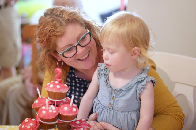 Lucy's Second Birthday Party - cupcakes