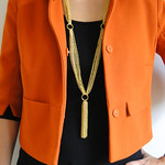 Gold Tassel Necklace Tutorial by Fabric Paper Glue