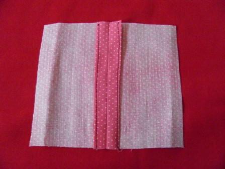 Turned-under-edge seam finish (back)