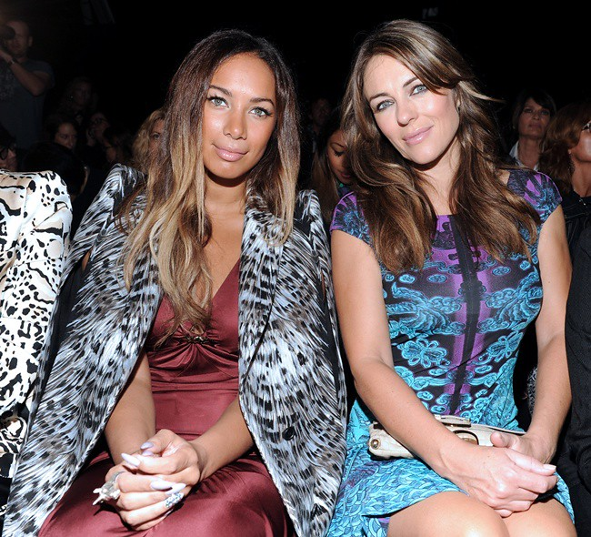 z2 Leona Lewis in RC and Elizabeth Hurley in RC @ Roberto Cavalli Spring Summer 2013 Fashion Show 24-09-2012 Milan