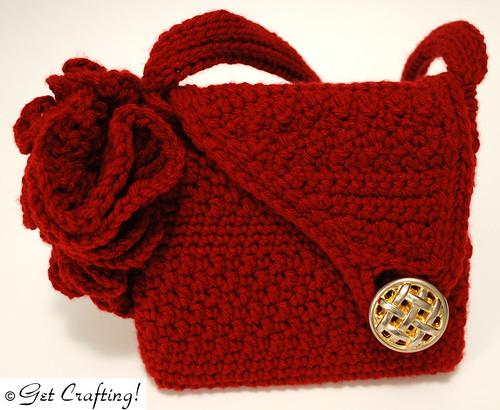 Fractal accent evening bag