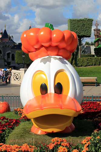 Donald is a Jack o' Lantern