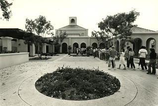 Frank Dining Hall soon after its opening in 1982