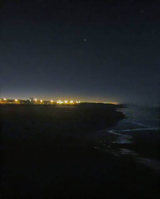 Ocean Beach at night; San Francisco, CA