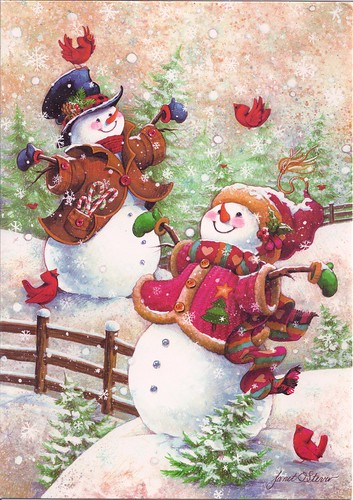 Snowman Couple-Christmas