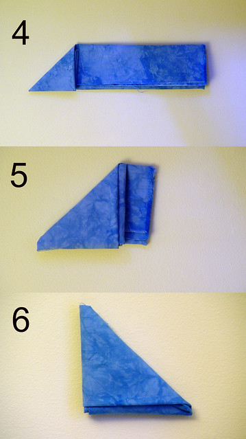 folding fat quarters, mini triangle 2