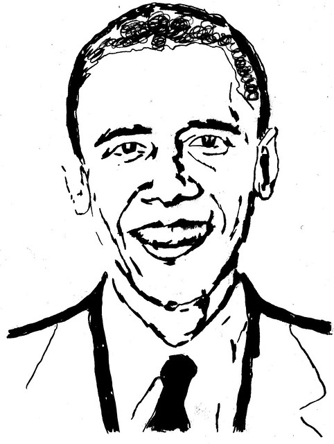 Drawing of Barack Obama | This is my drawing of the ...