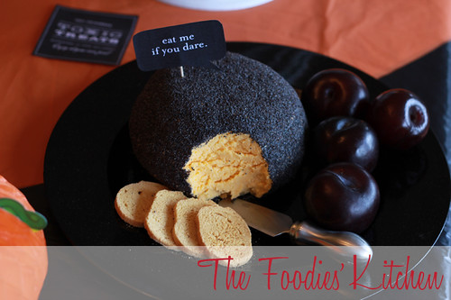 Halloween Cheddar Cheese Ball
