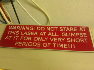 laser cutter warning sign