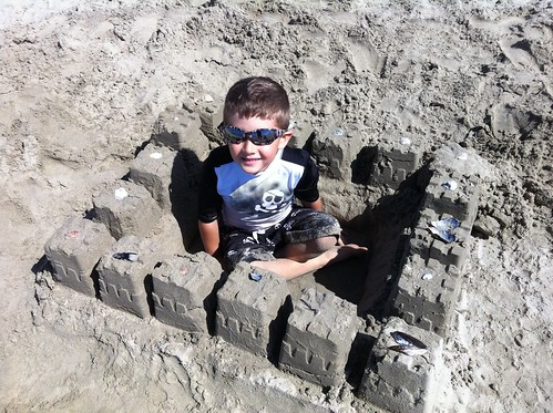Sandcastle building at Newport Beach!