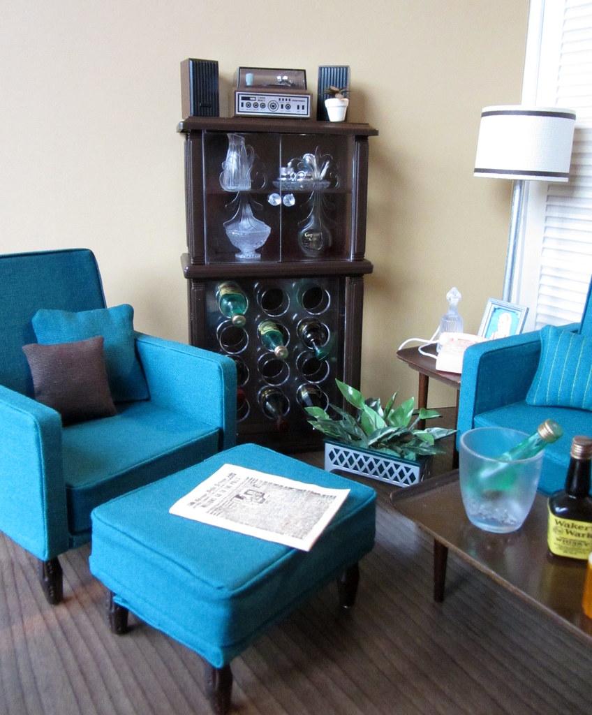 Mod Living Room -- Gloria Wine Rack After