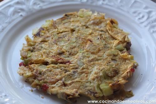 Tortilla de puerros y patata Prodieta (1)