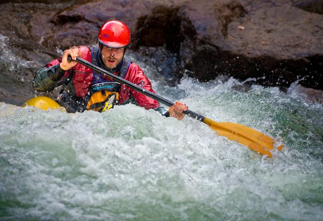 A kayaker 3, Gull River, Minden Wild Water Preserve, Ontario DSC8221