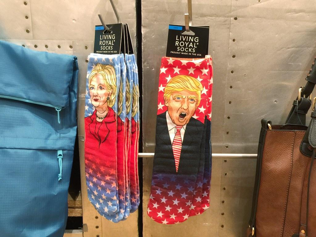 Trump & Hillary socks
