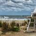 Empty Lifeguard Stand as Hermine Arrives by clif_burns