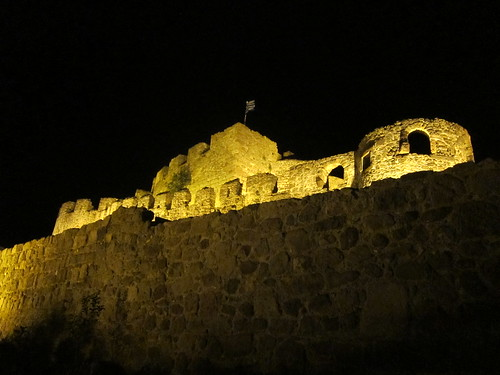 Molyvos Castle by Night